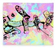 Street Sk8 Pop Art Fleece Blanket