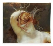 Study For The Gorgon And The Heroes Fleece Blanket
