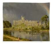 Study Of Windsor Castle Fleece Blanket