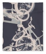 Stunt Bike Trickery Fleece Blanket