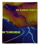 Submitted Art Work For The Lightning Bones Band Fleece Blanket