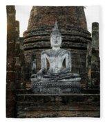 Sukhothai Buddha Fleece Blanket