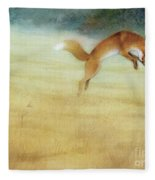 Summer Gold-fox Fleece Blanket