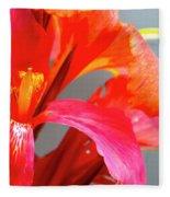Summer Lilly Pink Fleece Blanket