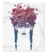 Summer Queen Fleece Blanket