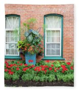 Summer Street Garden Fleece Blanket