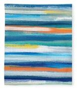 Summer Surf 3- Art By Linda Woods Fleece Blanket