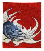 Sun And Moon On Red Fleece Blanket