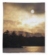 Sun Behind The Clouds Fleece Blanket