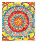 Sun Mandala Fleece Blanket