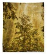 Sunbeams In The Foggy Forest #3 Fleece Blanket