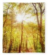 Sunbeams In The Forest Fleece Blanket