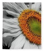Sunflower And Shy Friend Fleece Blanket