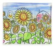 Sunflower Gods Fleece Blanket