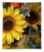 Sunflower Harvest Fleece Blanket