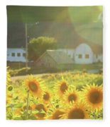 Sunflower Haze Fleece Blanket