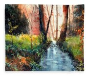 Sunlight Colorful Path Fleece Blanket