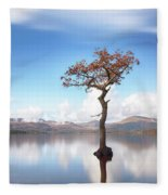 Sunny Afternoon On Loch Lomond Fleece Blanket