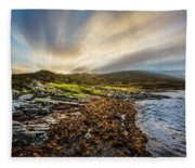 Sunrays At Dawn Along The Coast Fleece Blanket
