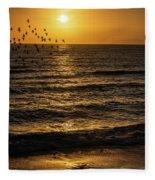 Sunrise Birds Nc Fleece Blanket