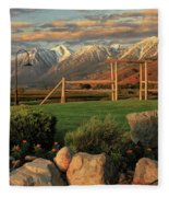 Sunrise In Carson Valley Fleece Blanket