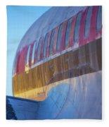 Sunrise On An Old Airplane Fleece Blanket