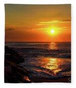 Sunrise Over Indian River Inlet Fleece Blanket