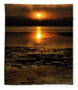 Sunrise Rathtrevor Beach 6 Fleece Blanket