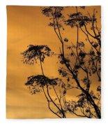 Sunrise Silhouette Fleece Blanket