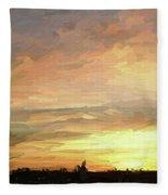 Sunset 092118 1a Fleece Blanket