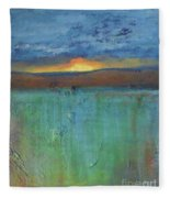 Sunset - Abstract Landscape Painting Fleece Blanket