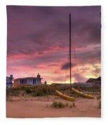 Sunset After Hurricane Fleece Blanket