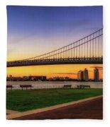 Sunset By The Ben Fleece Blanket