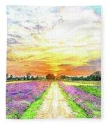 Sunset - Colors Of Nature Fleece Blanket