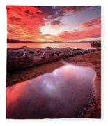 Sunset Harmony At Kiva Beach Fleece Blanket