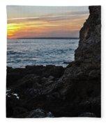 Sunset In Gale Beach. Coast Of Algarve 2 Fleece Blanket