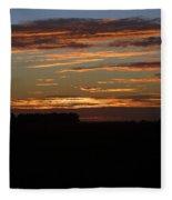 Sunset In Southern Missouri Fleece Blanket
