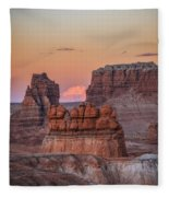 Sunset In Southern Utah Fleece Blanket