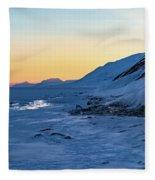 Sunset In The Arctic Fleece Blanket