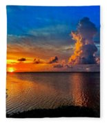 Sunset On Cudjoe Bay 8584 Fleece Blanket