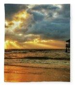 Sunset On The Gulf Fleece Blanket
