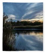 Sunset On The Lake Fleece Blanket