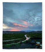 Sunset On The Rio Grande Fleece Blanket