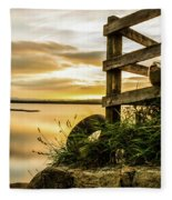 Sunset Over Reva Fleece Blanket