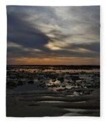 Sunset Over The Rota Corrales Fleece Blanket