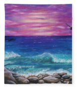 Sunset Wave Fleece Blanket