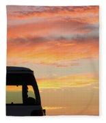 Sunset With The Van Fleece Blanket