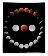 Super Blood Wolf Moon Eclipse Fleece Blanket