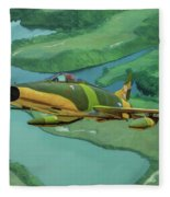 Super Sabres Over Vietnam - Oil Fleece Blanket
