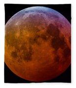 Super Wolf Blood Moon Lunar Eclipse Of 2019 Fleece Blanket